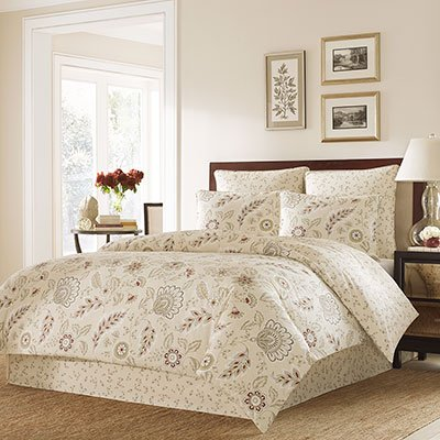 Bordeaux Comforter Set - Stone Cottage Cotton Sateen Duvet Cover Set, King, Bordeaux