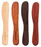 Earlywood Large Spreader Set - Handmade Hardwood 4-Piece - Bloodwood, Hard Maple, Jatoba, Mexican Ebony