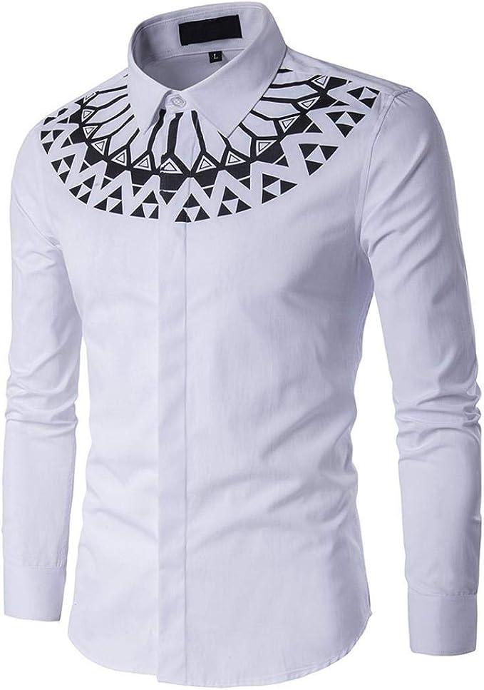Yvelands Camiseta a Rayas de Moda Hombres Camisa de Moda Camisa ...