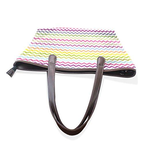 COOSUN Galones grandes mango de cuero Bolsa de hombro bolsa de asas de mano de PU M (40x29x9) cm Multicolor # 001