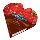 Ghirardelli Chocolate Valentine Dark & Strawberry SQUARES Heart Gift Box, 3.72 oz.