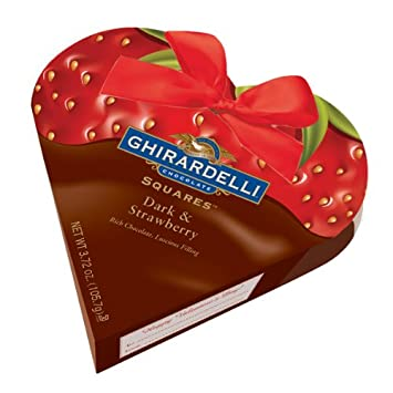 Amazon Com Ghirardelli Chocolate Valentine Dark Strawberry