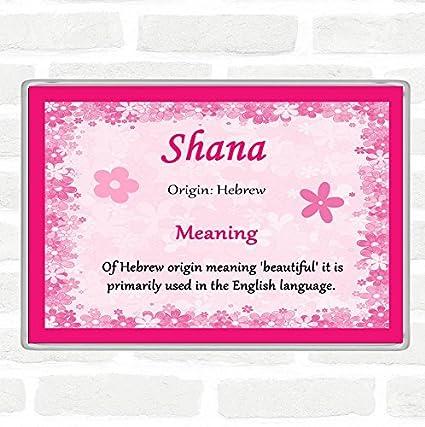 Imán para nevera con el nombre de Shana, color rosa: Amazon.es ...