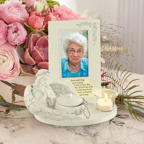 CTD Store Honor The Loss Of Your Love One With An Elegant Antique Angel Memorial Keep Safe Picture Frame With Intricate Box And Tea Light - Memorial Stores