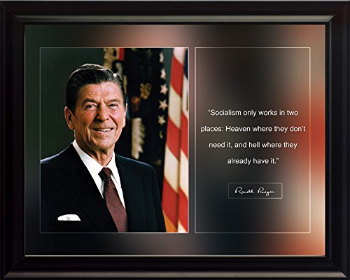 Ronald Reagan Photo Picture Poster Framed Quote