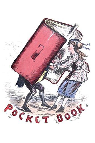 Pocket Book Young Rebellious Woman Victorian Cartoon Art Pri
