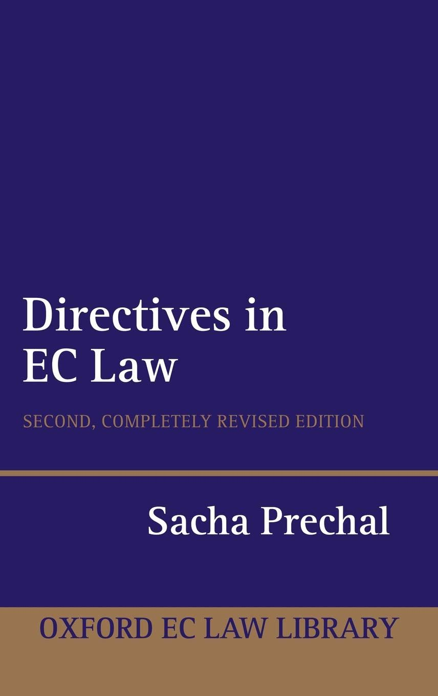 Directives In EC Law  Oxford European Community Law Library