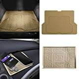 #9: FH GROUP F16406 Premium Trimmable Rubber Cargo Mat w. FH3011 Silicone Anti-slip Dash Mat Tan Color
