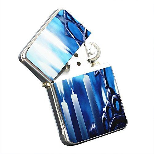 Menorah Chanukah Candles - Silver Chrome Pocket Lighter by Elements of Space