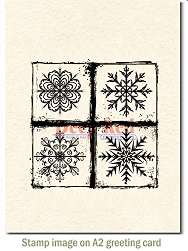 (Deep Red Stamps Frosted Snowflakes Cling Stamp, 3