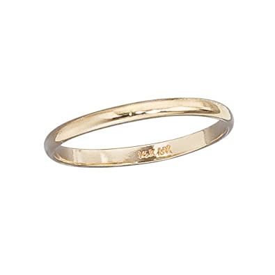 rose ring band wedding bands gold plain