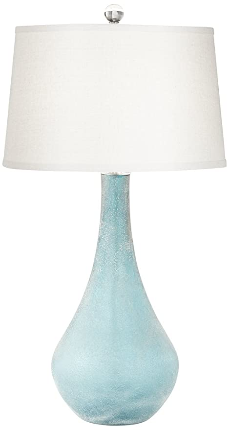 City Shadow Teal Blue Frost Glass Table Lamp Amazon Com