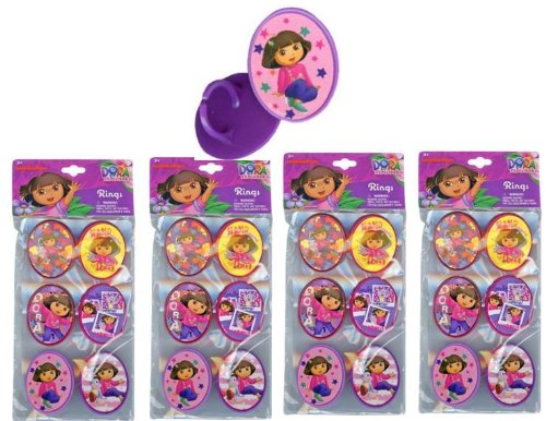 Dora Cupcake Topper Rings x 24 pcs