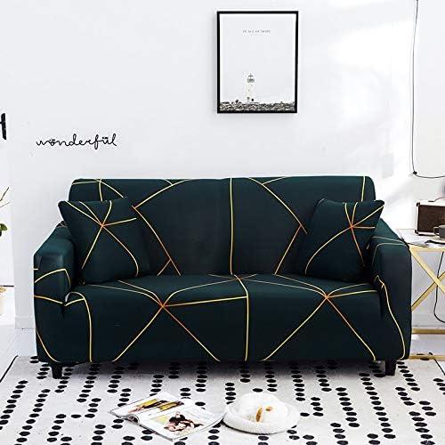 PPMP Funda de sofá elástica Moderna para Sala de Estar, sofá de Esquina seccional, Funda Protectora para Silla, Funda de sofá A27, 4 plazas