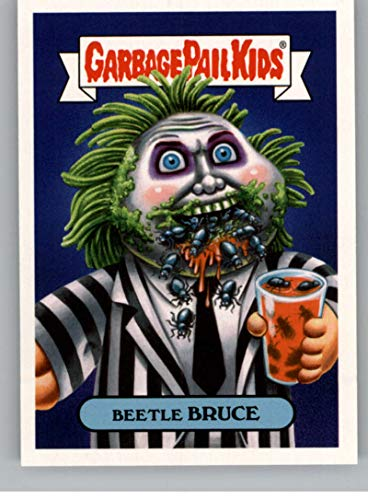 2018 Topps Garbage Pail Kids Oh The Horror-ible 80s Horror Stickers A #4A BEETLE BRUCE Peelable Collectible Trading Sticker Card