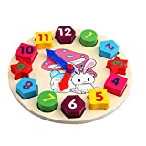 ACTLATI Baby Wooden Toy Cartoon Rabbit Digital Clock Children Educational Toys Boy Girls Gifts