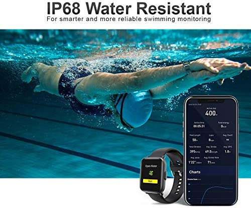 Smart Watch, UXD Fitness Activity Tracker with Sleep Heart Rate Monitor for Men Women 5ATM Waterproof Pedometer Smartwatches for iPhone Samsung Android Phones 6