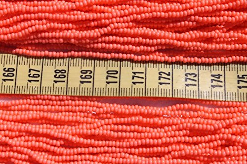 11/0 Sol Gel Coral Czech Glass Seed Beads for Jewelry Making, Supply for DIY Beading Projects l/Hank