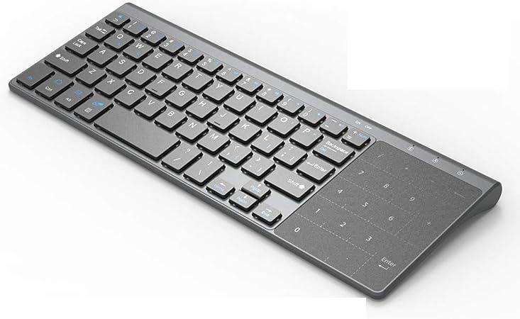 JJJ Teclado USB inalámbrico, Mini 2.4GHz con Teclado Digital ...