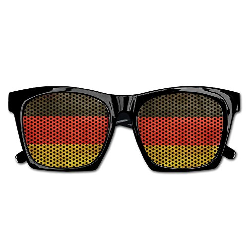 Xing Stars Colorful Summer Unisex German Flag Country Stripe Fashion Party Costume - Sunglasses German Flag