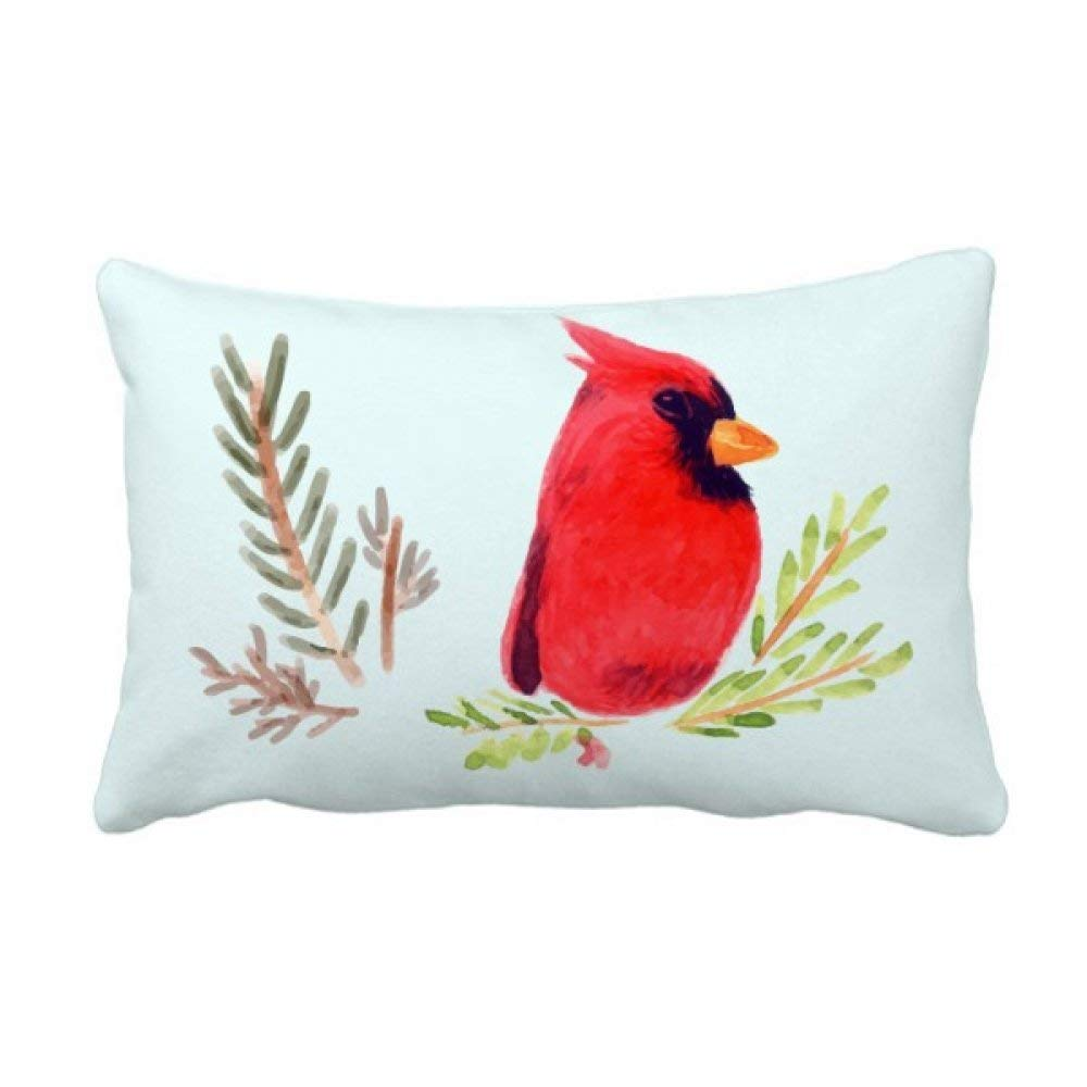 Buy Diythinker Bird Animal Magpie Red Throw Lumbar Pillow Insert Cushion Cover Home Sofa Decor Gift 16 Inch X 24 Inchs Multicolor Online At Low Prices In India Amazon In