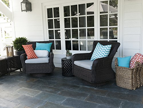 Majestic Home Goods Chevron Pillow Large Teal Furniture Outdoor Furniture Outdoor Ottomans