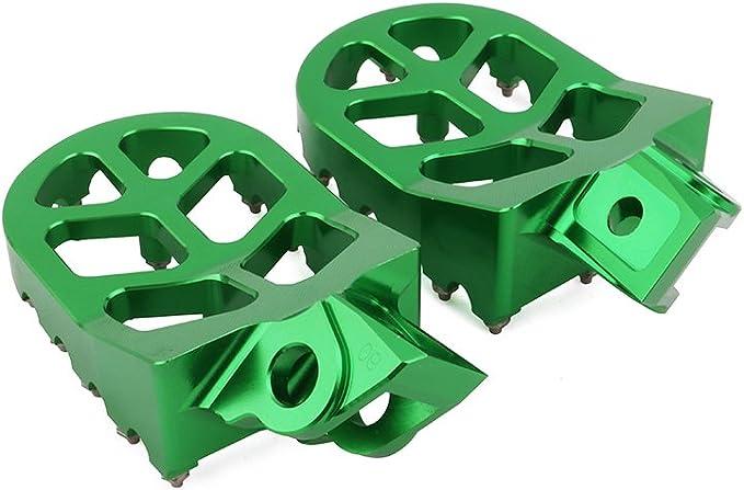 YSMOTO Foot Pegs Footpegs Footrest Pedals Billet MX Wide Aluminum Foot rests For Kawasaki KDX200 KDX220 95-03 KDX250 KX 125 KX125 KX250 KX 250 91-96 KX500 91-03 Motorcycle dirt bike Green