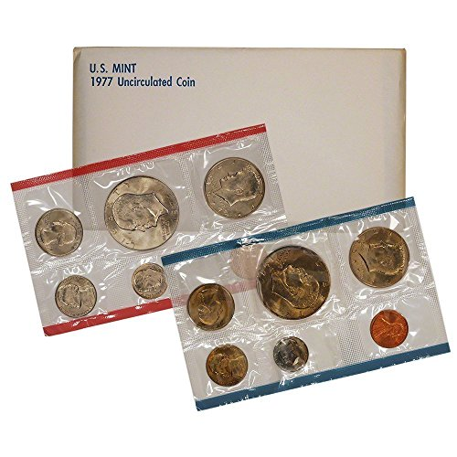 1977 - 10-Coin Uncirculated P&D US Mint Set in OGP BU