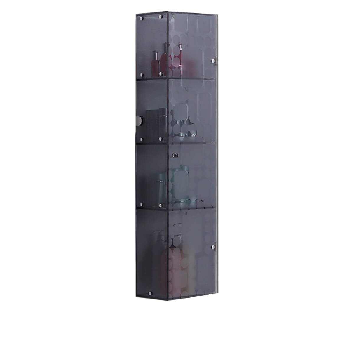 Fab Glass and Mirror Fgm-L-B145G2 Wall Mounted Bathroom Cabinet for Cosmetic Storage, Grey by Fab Glass and Mirror