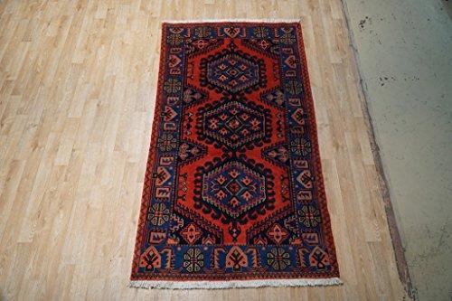 Viss Persian Rugs (Handmade 3x7 Wiss Persian Viss Wiss Fancy Rug)