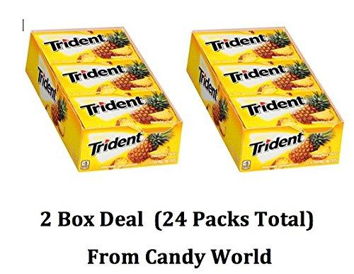 Trident Sugar Free Xylitol Gum Pineapple Twist 2 Box Deal (14-Piece, 24-Pack)