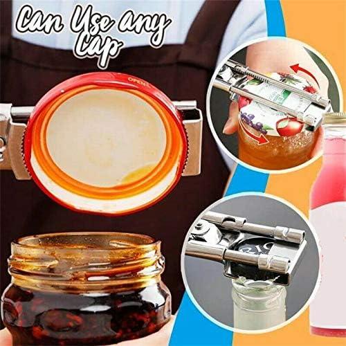 adecuado para 1-6 pulgadas abridor de latas multifunci/ón 2 abridor maestro abridor de frascos y botellas ajustable abridor de frascos ajustable de acero inoxidable