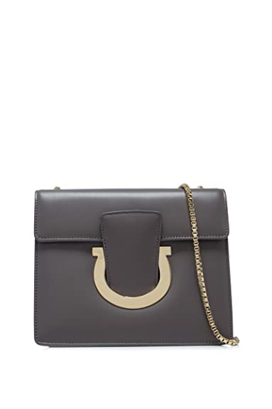 ae412ebc7926 Salvatore Ferragamo women s leather cross-body messenger shoulder bag  thalia gre  Amazon.co.uk  Shoes   Bags