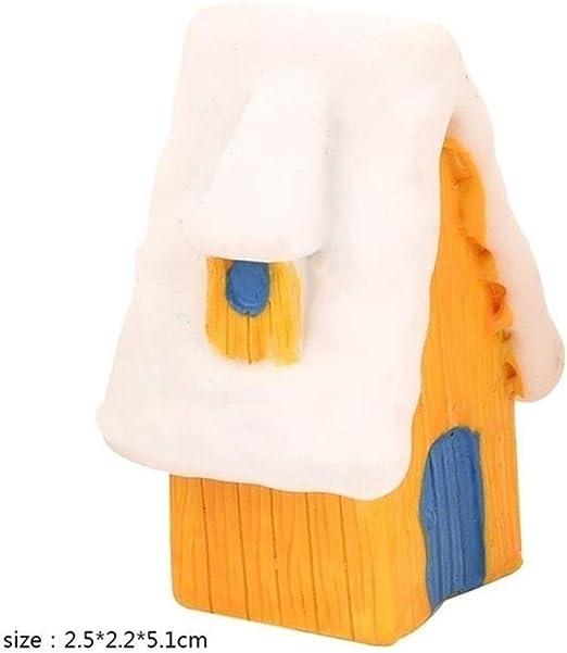SUIWO Navidad Decoraciones Decoración de Navidad Crafts pequeños adornos de hielo Casa de la nieve del paisaje de invierno Rusia España Edificio Estatua Estatuilla Decoración Decoraciones for el hogar: Amazon.es: Hogar
