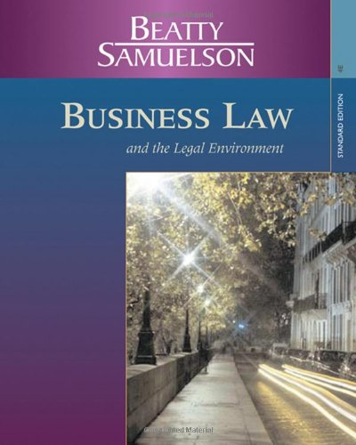 Business Law and the Legal Environment, Standard Edition (Available Titles CengageNOW)