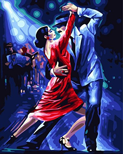 [ ] Diy Oil Painting by Numbers Paint by Number Kits - Tango Dancer 1620 inch - Digital Oil Painting Canvas Wall Art Artwork Landscape Paintings for Room Office Christmas Decoration Gift