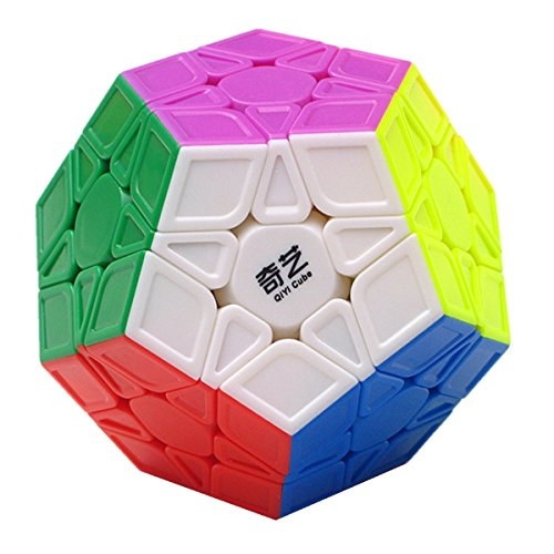 CuberSpeed Qiyi Megaminx Sculpted Stickerless Magic cube Mofangge QiYi QiHeng S Stickerless Sculpted Megaminx Magic Cube