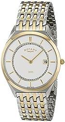 Rotary Men's gb08001/02 Analog Display Swiss Quartz Two Tone Watch