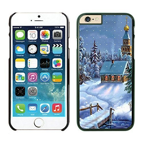 The Christmas Tree On Christmas Day Lovely Mobile Phone Protection Shell for iphone 6 Case-Unique Soft Edge Case(2015),Christmas Snow Scen iPhone 6 Case Black (Christmas Scen)