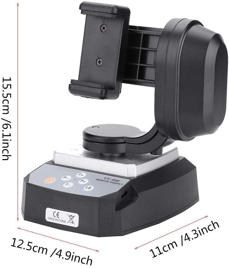 Cabezal Pan Tilt Motorizado 355 Grados 20m Distancia Control Remoto Tr/ípode Electr/ónico Adaptador de Montaje de Cabeza Profesional para Tr/ípode de Gr/úa C/ámara DSLR Carga hasta 5 kg//1.1lb
