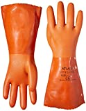 Boss Gloves 8620S 12-Inch Small Orange Double Dipped PVC Gloves