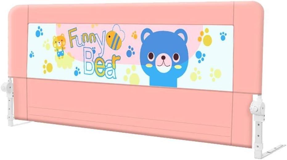 LJH-ベッド柵 介護用手すり Railsの折り畳み式のベビーアンチ秋簡単にフィット赤ちゃんの安全のベッドをベッドガードレールバッフルのために幼児/キッズ/子供、ピンク、高さ68センチメートル、1つの側 (Size : 200cm)