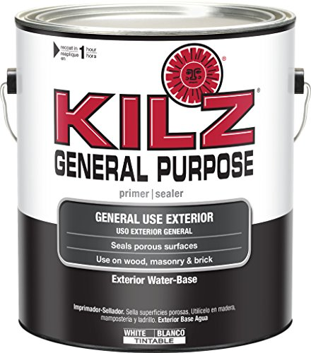 KILZ General Purpose Exterior Latex Primer/Sealer, White,