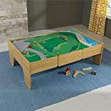 KidKraft Wooden Play Table Train Table