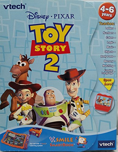 VTech V.Smile Smartbook Story Book - Disney Pixar Toy Story 2 that Teaches Letters, Numbers, Colors, Logic, Music, Objects, Body Parts, Memory, Matching and Foreign Language