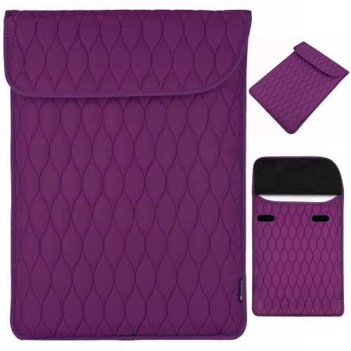 quilted laptop sleeve - 4