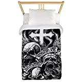 Twin Duvet Cover God Is My Judge Skulls Cross Angel