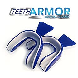Teeth Armor Dental Night Guard for Maximum Comfort and Protection Against Teeth Grinding and Clenching. 2 Pack! Includes Free Storage Case