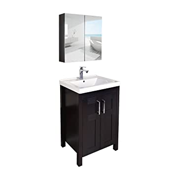 Amazon Com Elecwish Bathroom Vanity Stand 24 Inch Mdf Single