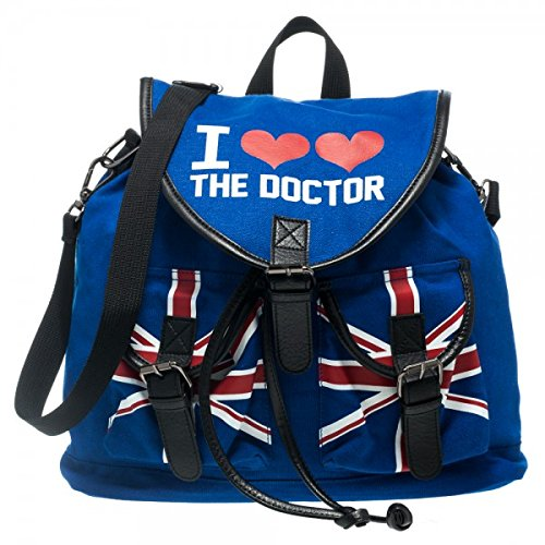 Dr. Who I Heart the Dr. Doctor Knapsack Backpack Bag